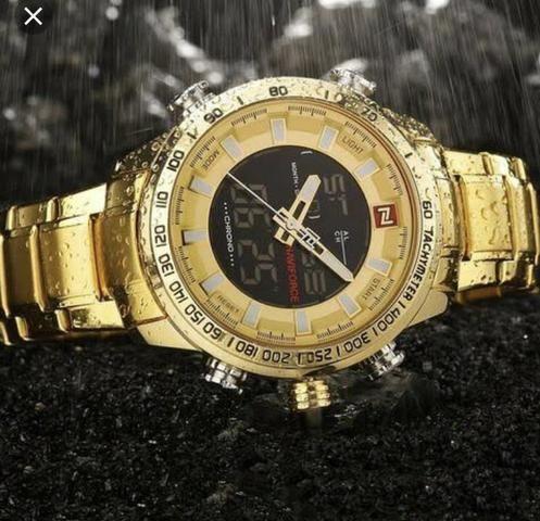 Promoção só HOJE relógio Naviforce original lacrado analógico e Digital - Foto 3