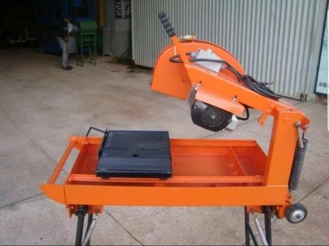 Máquina de corte blocos e porcelanato