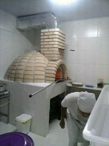 Forno a lenha d pizzaria só mão de obra - Foto 3