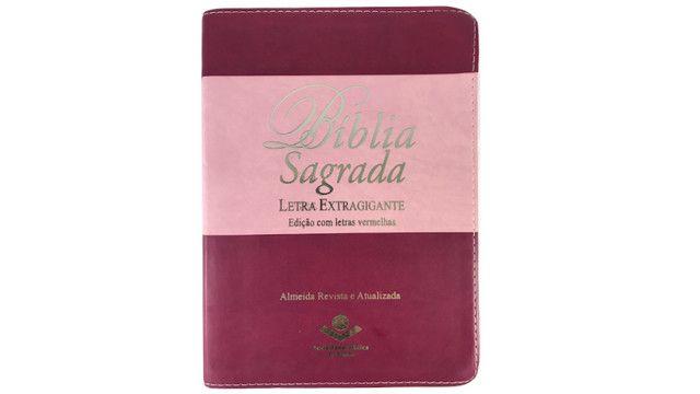 Biblia Feminina Mulher Letra Extragigante - Indice Lateral - Foto 2