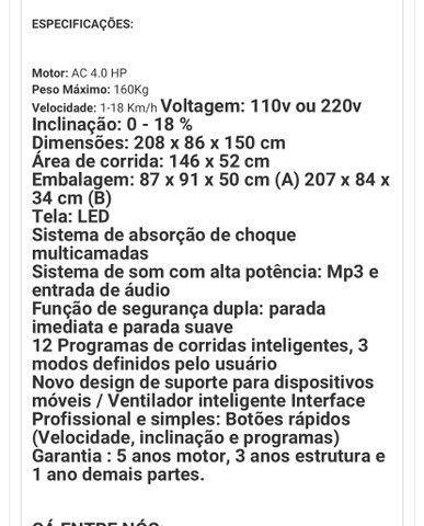 Esteira Elétrica SPEEDO TR8 PRO  - Foto 5