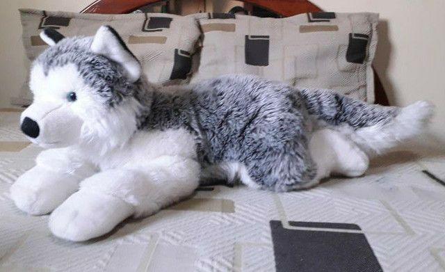 Pelúcia de Husky siberiano