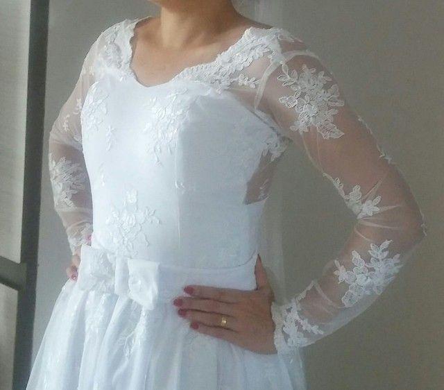 Vestido de noiva todo rendado