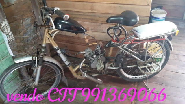 Vendo Bicicleta Motorizada, valor mil reais.