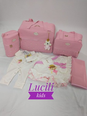 Kit bolsas maternidade luxo! Não descasca e não resseca+ saída