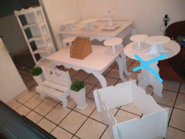 Kit branco para decoração de festa - Foto 4