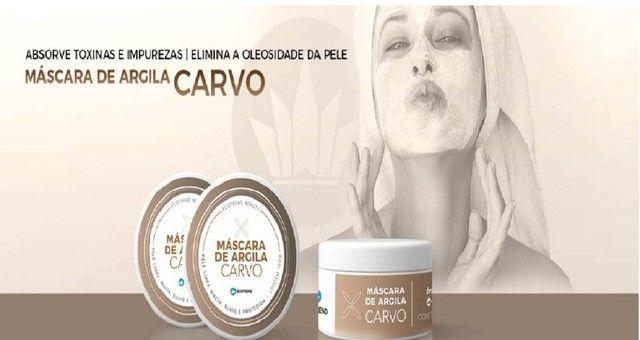 Mascara de Argila Carvo - Limpa e Hidrata á sua pele - Foto 2