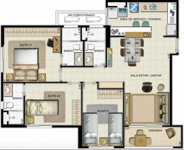Apartamentos Pronto para Morar Ponta Negra