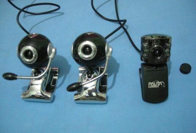 Segurança para escritórios e comércio câmera webcam usb com microfone por 30 reais cada um - Foto 2
