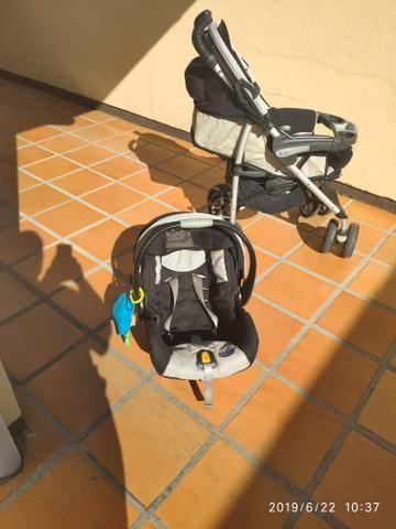 Carrinho de bebê Chicco Trevi + bebê conforto - Foto 6