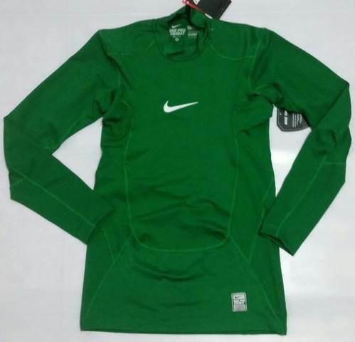 7b5abdc86 Camisa Nike Manga Longa Pro Combat Termica Compression verde musgo e verde  escuro original