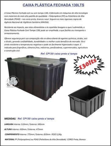 Caixas plástica organizadora 15lts na cor preta - Foto 4