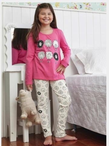 Tal Mãe tal Filha Pijamas Ovelhinha Demillus - Foto 2