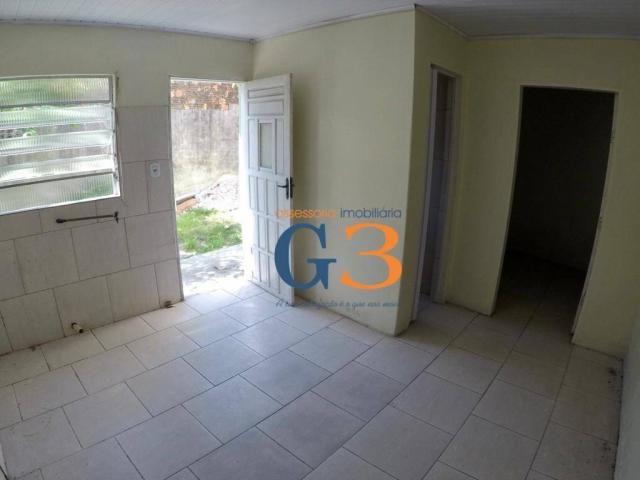 Casa com 1 dormitório para alugar, 30 m² por R$ 450/mês - Centro - Rio Grande/RS