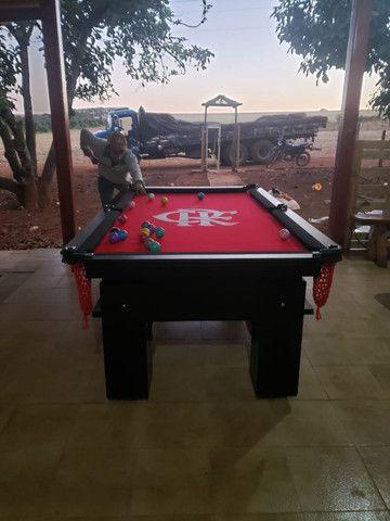 Mesa de Bilhar Preta Tx Personalizada Modelo GDF4176 - Foto 3