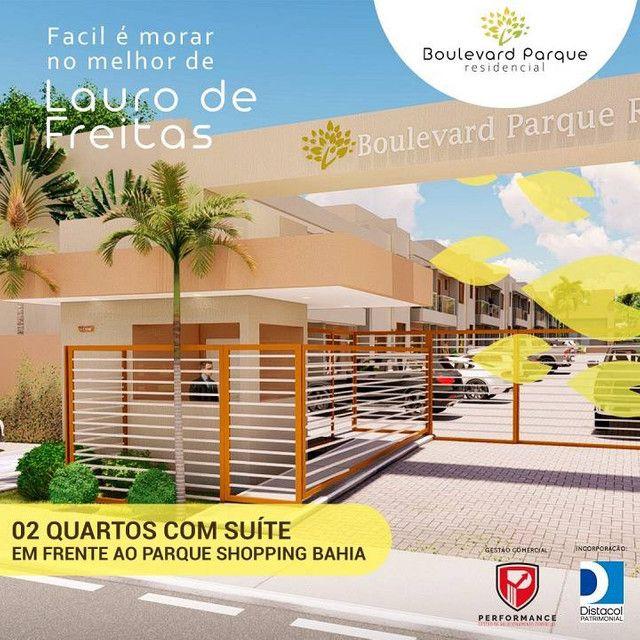 Apartamento para venda possui 59 metros com 2/4 Suíte e Varanda em Lauro de Freitas - BA - Foto 2