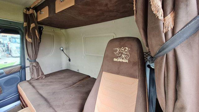 Scania 124 G 400 ano 2013 Trucado 6x2 com ar cond Unico Dono Lindo - Foto 10