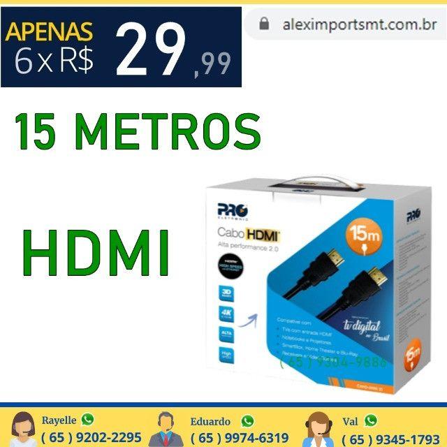 Cabo Hdmi Macho x Macho 2.0 4K 3D 15 Metros Grande Adapitado