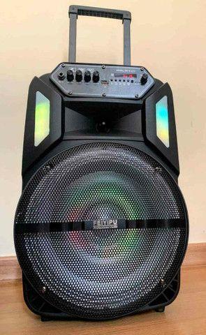 Caixa de Som 3000W Bluetooth Microfone S/ fio e Controle Remoto! ?? - Foto 6