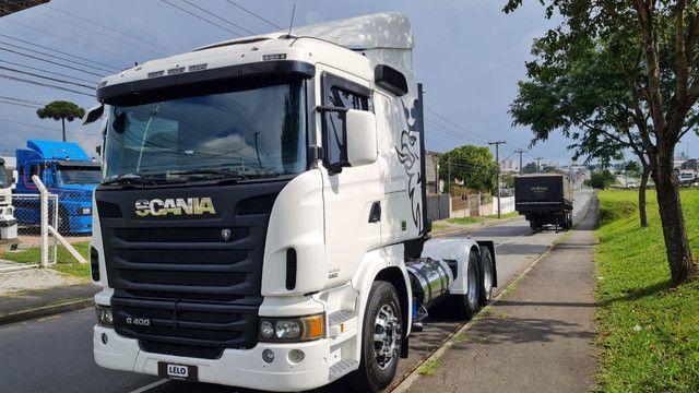 Scania 124 G 400 ano 2013 Trucado 6x2 com ar cond Unico Dono Lindo - Foto 3