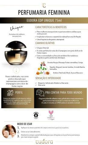 Eudora Unique Eau de Parfum 75ml - Foto 3