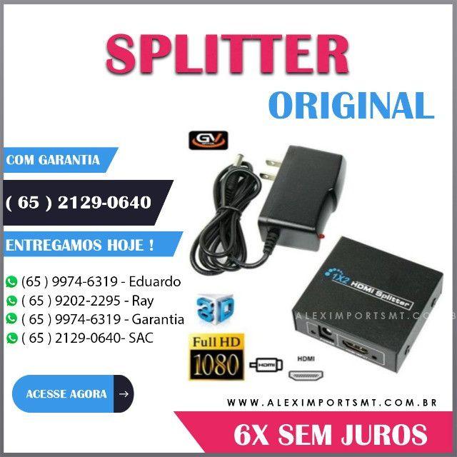 Splitter com 1 Entrada Hdmi e 2 Saídas Hdmi 3D Gv Conversor