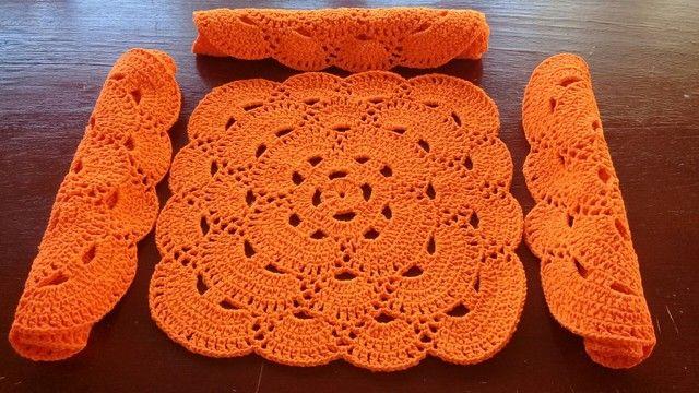 Sousplat quadrado de crochê  - Foto 3