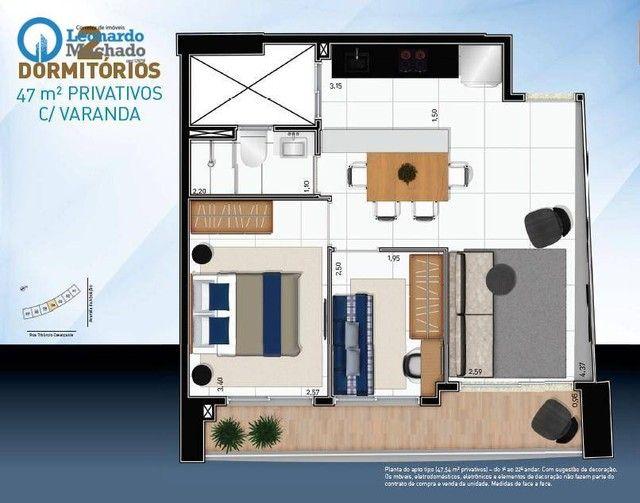Apartamento com 2 dormitórios à venda, 47 m² por R$ 549.000,00 - Meireles - Fortaleza/CE - Foto 12