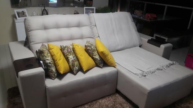 Sofa retratil Bianchi Paris 2,50m em linho novo
