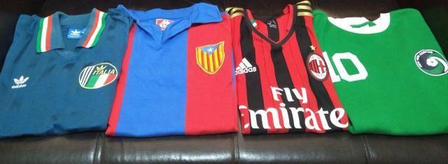 Camisa Milan, Barcelona Itália e Cosmos - Foto 2