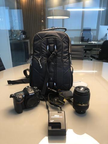 Nikon D7100 + Lente Nikor 18-300 + adaptador Wi-Fi + Carregador + Mochila - Foto 2