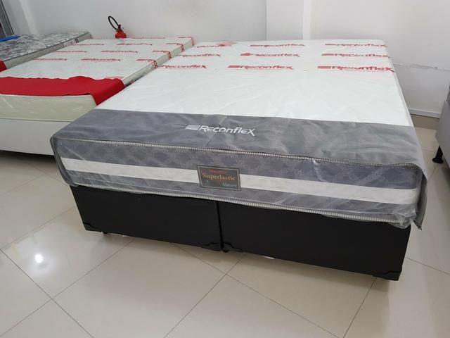 85a4220f5 Entrega Imediata - Conj.Box Nature Queen Size Reconflex - Somos Loja ...