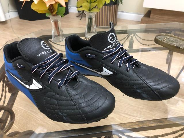 3b324148942d2 Tênis futebol 7 - Dellucco - Azul/Preto - Esportes e ginástica ...