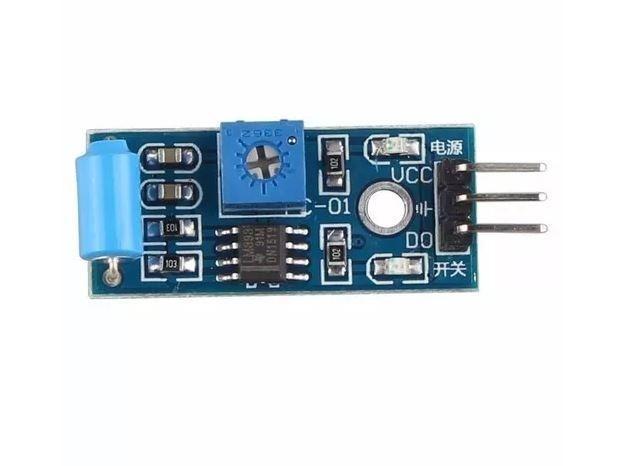 COD-AM58 Módulo Sensor De Vibração Arduino Tilt Sw-420 Pic Arm - Automação - Foto 4