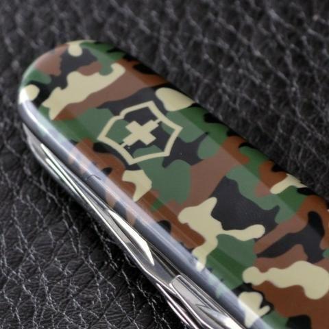 Canivete Suiço Victorinox Huntsman Camouflage Verde 15 funç Novo original - Foto 2