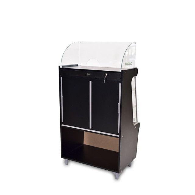 Balcão caixa Artlux preto ou branco 80cm Novo Frete Grátis - Foto 3