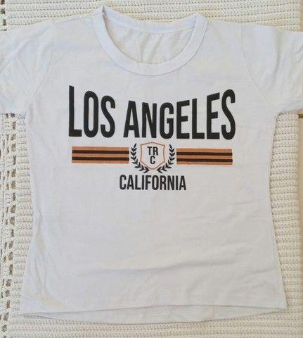 Tshirt  Blusa em Algodao - Foto 5