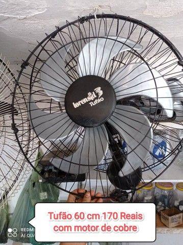 Ventilador tufão parede 60 cm,com motor de cobre