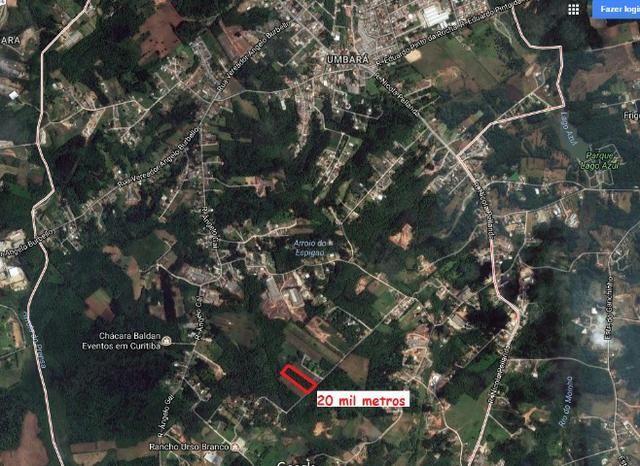 Terreno 20.300 m2 no Umbará a 2 Km da igreja