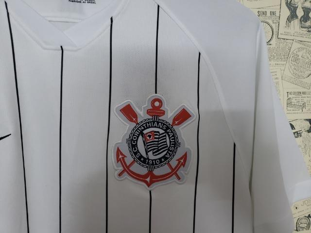 Camisa Corinthian home Branca 2019 2020 - Foto 3