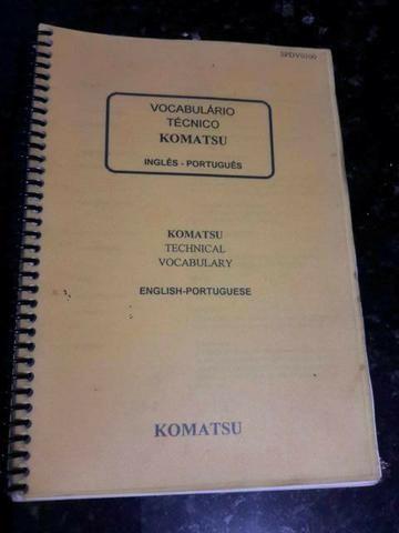 Vocabulário técnico Komatsu Inglês-Português