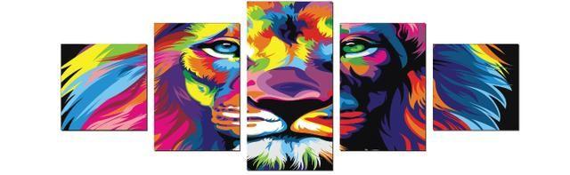 Quadro em Mosaico Leão