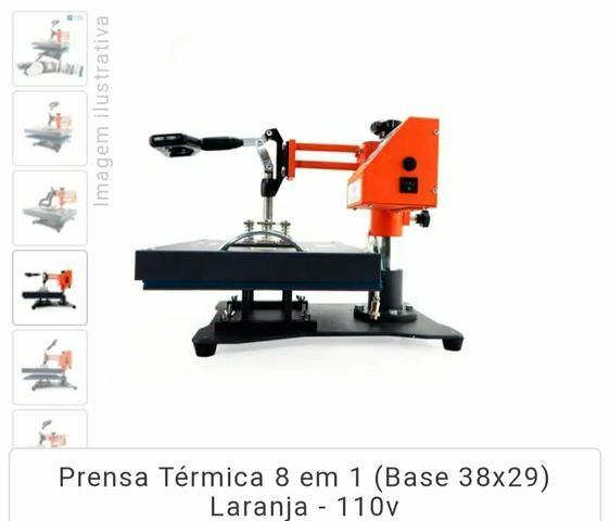 Prensa 8 em 1-Sublimação +Impressora Sublimatica - Foto 2
