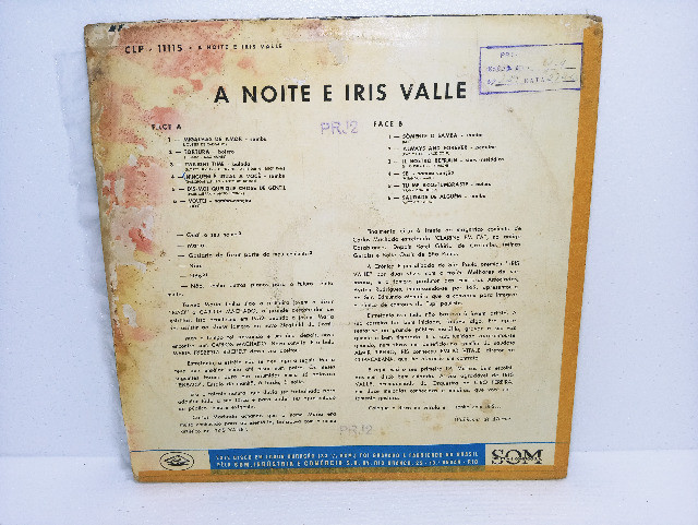 Lp Vinil Iris Valle A Noite E Iris Valle - Foto 4