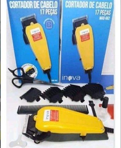 Entrega Grátis! Oferta Máquina de cabelo Completa 3 em 1 bivolt recarregável