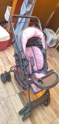 Carrinho e bebê conforto Galzerano Milano Reversível R$370 reais - Foto 2