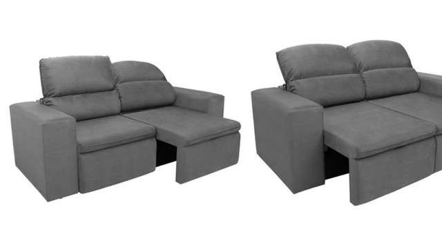 Sofa 3 lugares modelo com chaise dos dois lados. Cinza chumbo.  - Foto 5