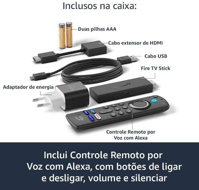 Fire TV Stick Lite com Controle Remoto Lite por Voz com Alexa. - Foto 3