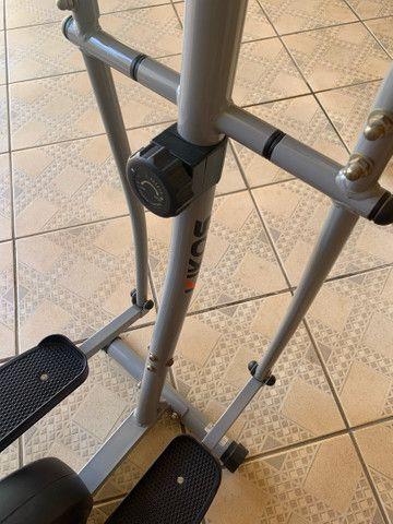 Elíptico Kikos 4004 cinza/ preto  - Foto 3
