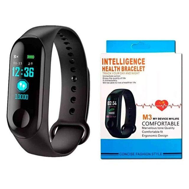 Relógio inteligente batimentos cardíaco pressão arterial - Foto 3
